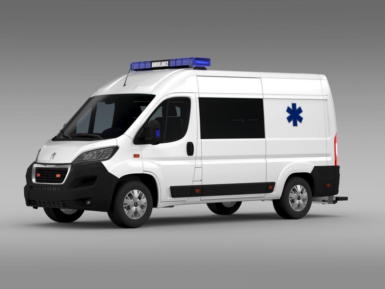 peugeot boxer van ambulance 2015 3d model 3ds max fbx c4d lwo ma mb hrc xsi obj 208875
