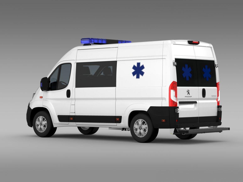 peugeot boxer van ambulance 2015 3d model 3ds max fbx c4d lwo ma mb hrc xsi obj 208877