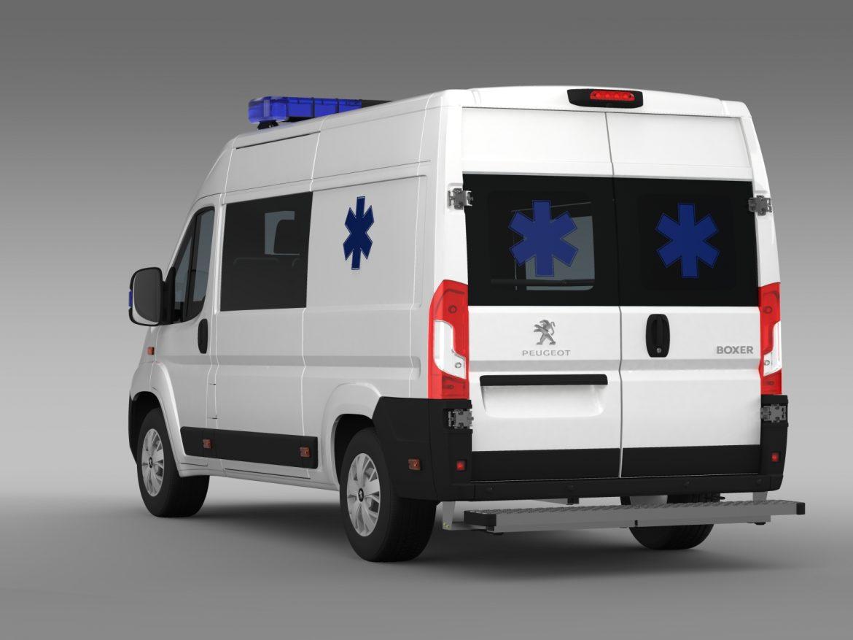 peugeot boxer van ambulance 2015 3d model 3ds max fbx c4d lwo ma mb hrc xsi obj 208878