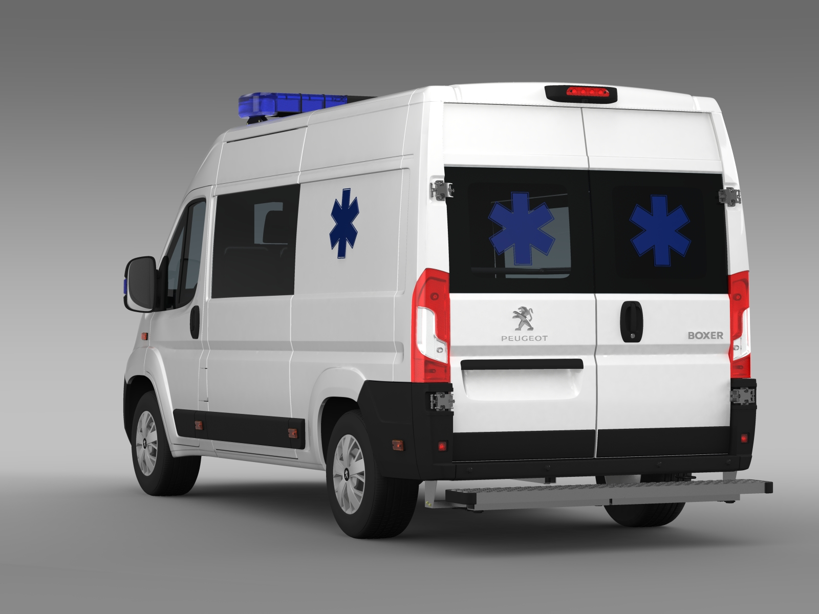 Peugeot Boxer Van Ambulance 2015 3D Model - FlatPyramid