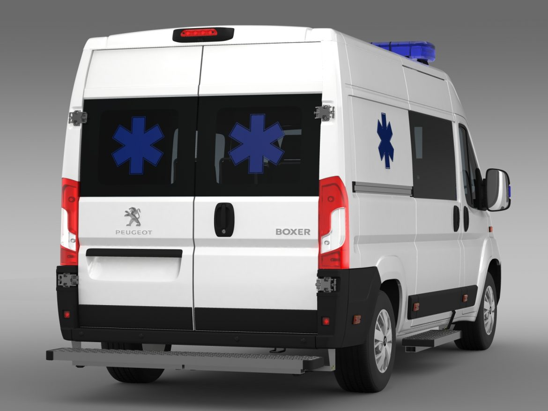 peugeot boxer van ambulance 2015 3d model 3ds max fbx c4d lwo ma mb hrc xsi obj 208879