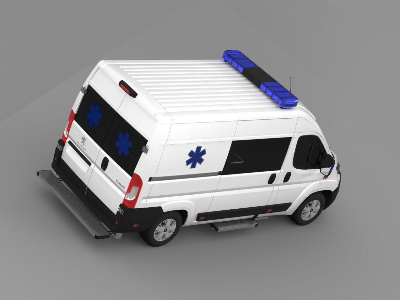 peugeot boxer van ambulance 2015 3d model 3ds max fbx c4d lwo ma mb hrc xsi obj 208880