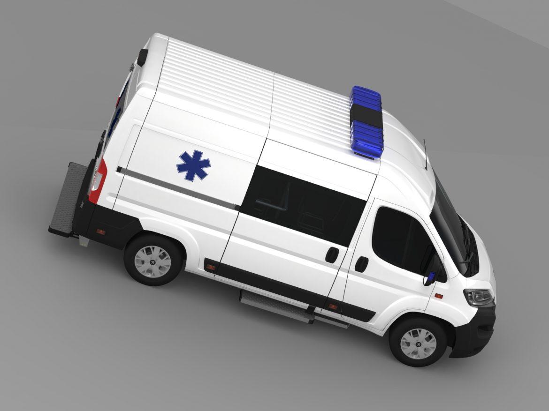 peugeot boxer van ambulance 2015 3d model 3ds max fbx c4d lwo ma mb hrc xsi obj 208881