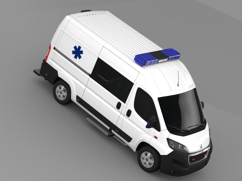 peugeot boxer van ambulance 2015 3d model 3ds max fbx c4d lwo ma mb hrc xsi obj 208882