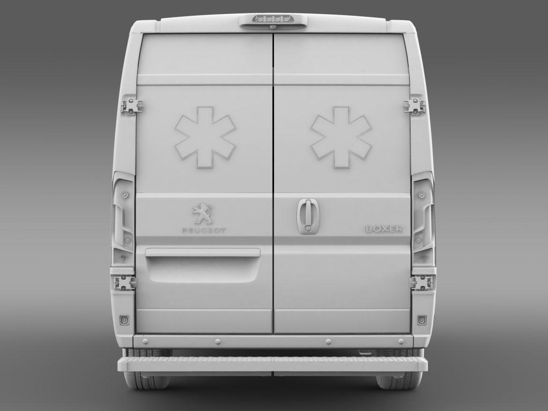peugeot boxer van ambulance 2015 3d model 3ds max fbx c4d lwo ma mb hrc xsi obj 208884