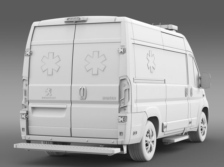 peugeot boxer van ambulance 2015 3d model 3ds max fbx c4d lwo ma mb hrc xsi obj 208886