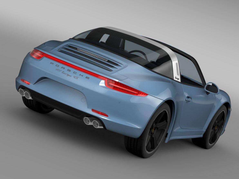porsche 911 targa 4s exclusive 2015 3d model 3ds max fbx c4d lwo ma mb hrc xsi obj 208891