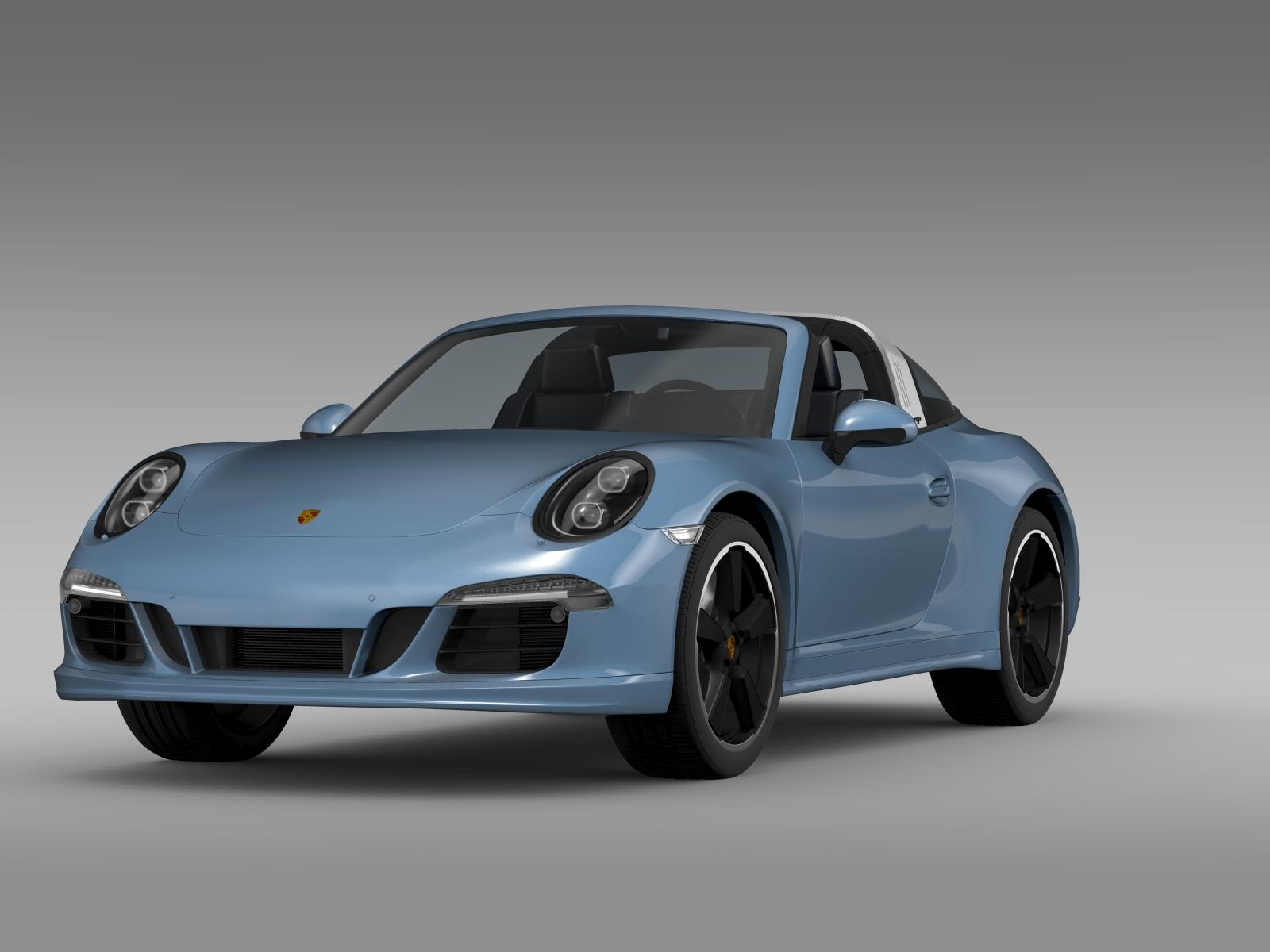 Porsche 911 Targa 4s Exclusive 2015 3d Model Buy Porsche