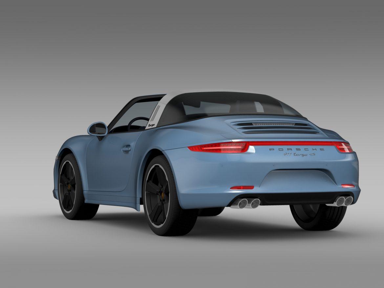 porsche 911 targa 4s exclusive 2015 3d model 3ds max fbx c4d lwo ma mb hrc xsi obj 208897