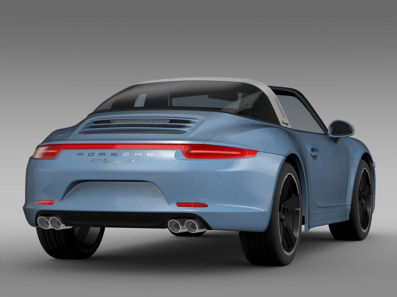 porsche 911 targa 4s exclusive 2015 3d model 3ds max fbx c4d lwo ma mb hrc xsi obj 208898