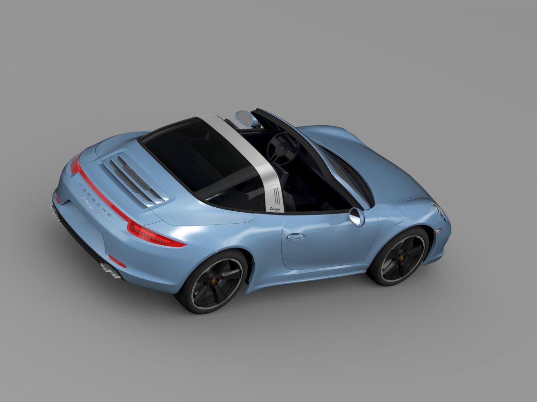 porsche 911 targa 4s exclusive 2015 3d model 3ds max fbx c4d lwo ma mb hrc xsi obj 208899