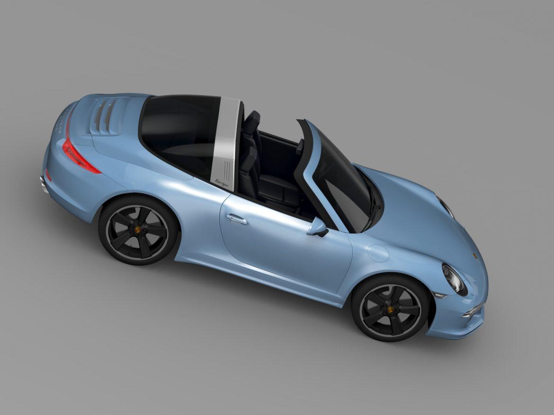 porsche 911 targa 4s exclusive 2015 3d model 3ds max fbx c4d lwo ma mb hrc xsi obj 208900
