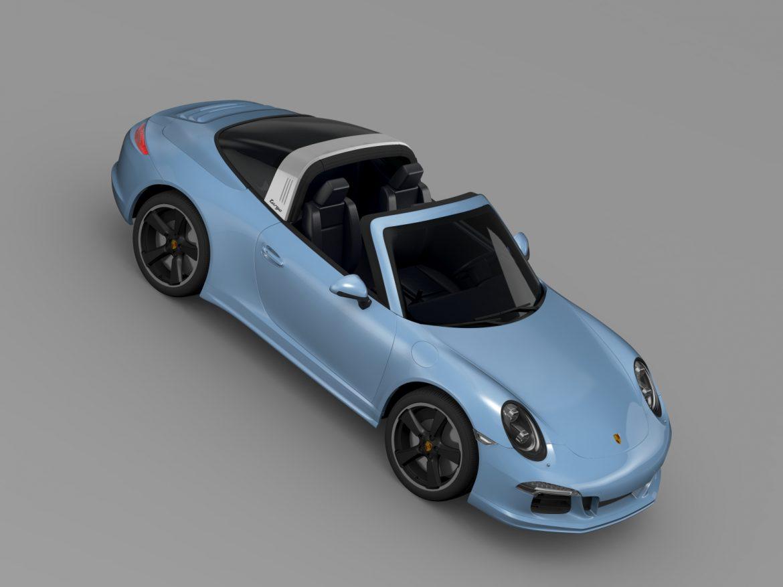 porsche 911 targa 4s exclusive 2015 3d model 3ds max fbx c4d lwo ma mb hrc xsi obj 208901