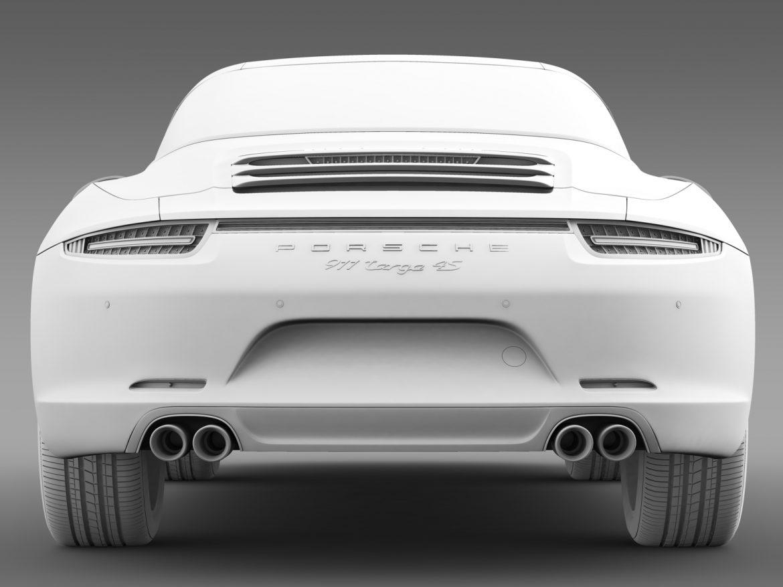 porsche 911 targa 4s exclusive 2015 3d model 3ds max fbx c4d lwo ma mb hrc xsi obj 208903