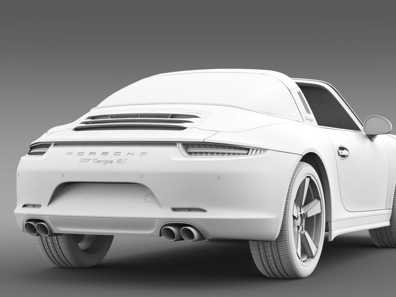 porsche 911 targa 4s exclusive 2015 3d model 3ds max fbx c4d lwo ma mb hrc xsi obj 208905