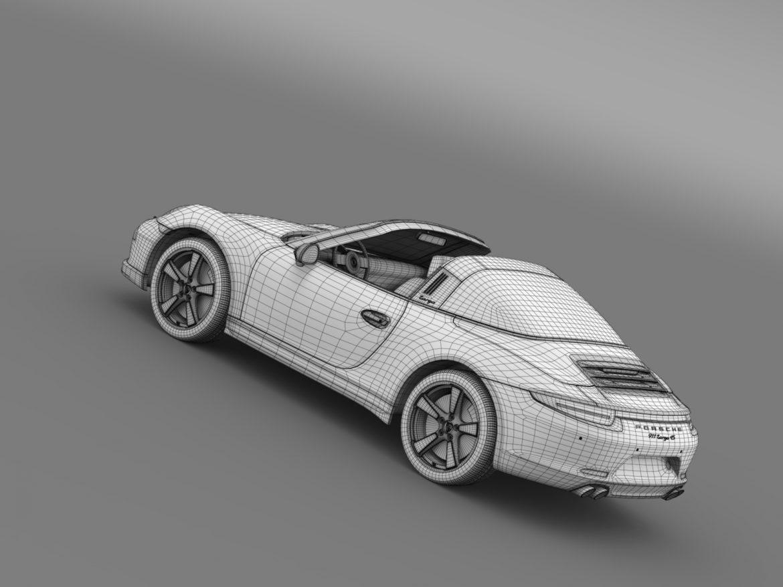 porsche 911 targa 4s exclusive 2015 3d model 3ds max fbx c4d lwo ma mb hrc xsi obj 208908