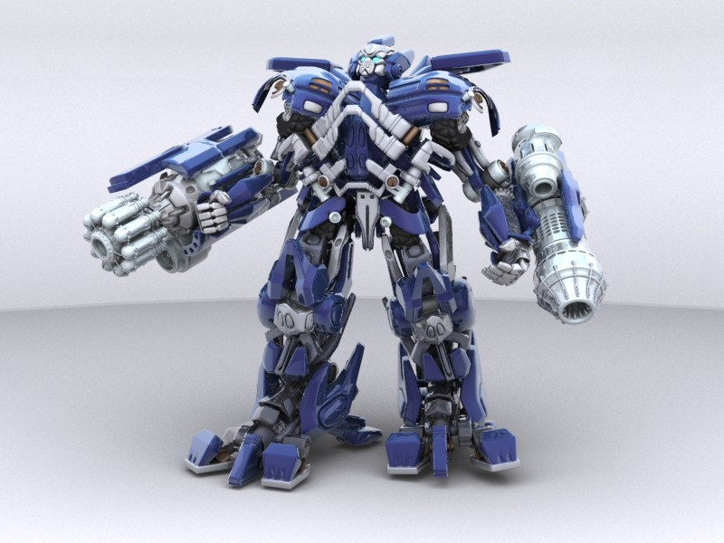 ironhide robotic character 3d model 3ds max fbx obj 208910