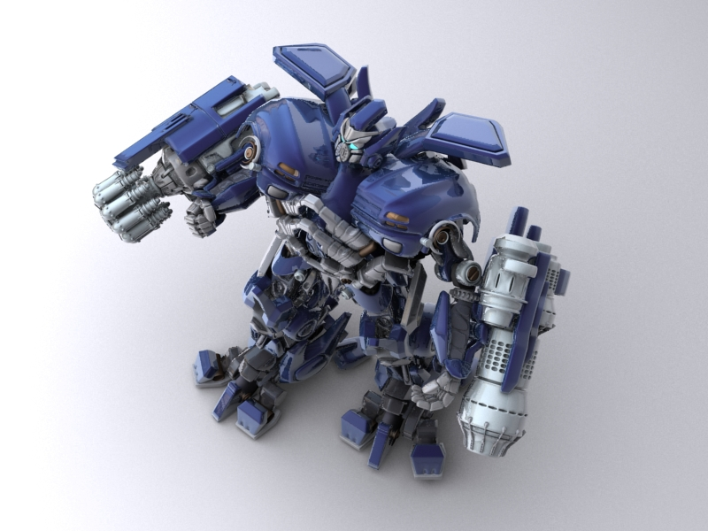 ironhide robotic character 3d model 3ds max fbx obj 208911
