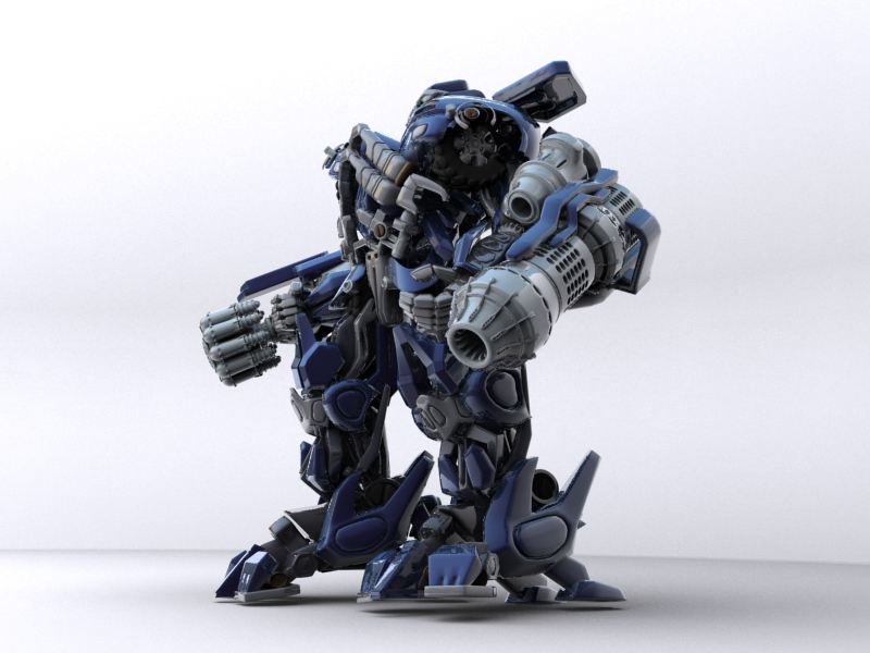 ironhide robotic character 3d model 3ds max fbx obj 208912
