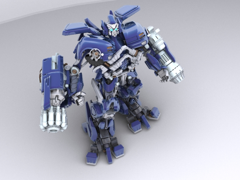 ironhide robotic character 3d model 3ds max fbx obj 208913