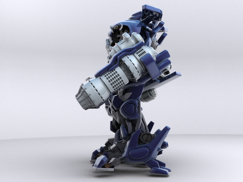 ironhide robotic character 3d model 3ds max fbx obj 208915