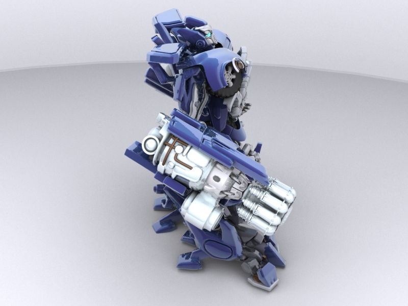 ironhide robotic character 3d model 3ds max fbx obj 208916