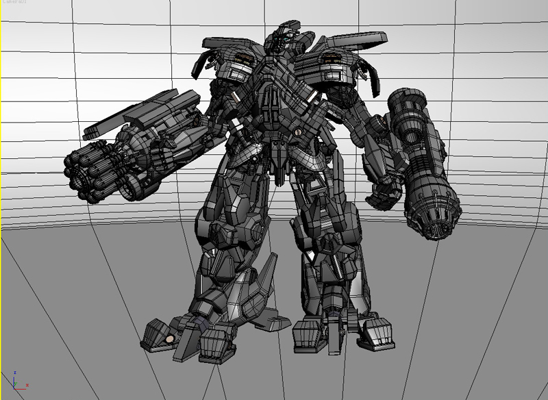 ironhide robotic character 3d model 3ds max fbx obj 208917
