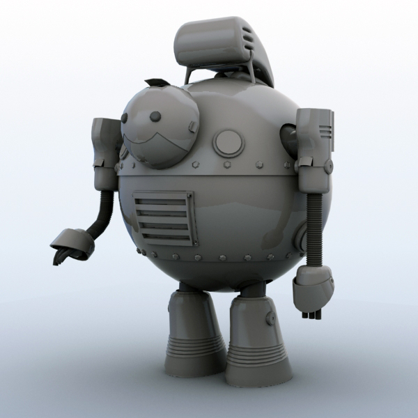 robot 05 3d model 3ds max fbx obj 208919