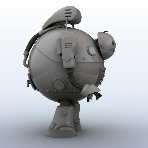 robot 05 3d model 3ds max fbx obj 208920