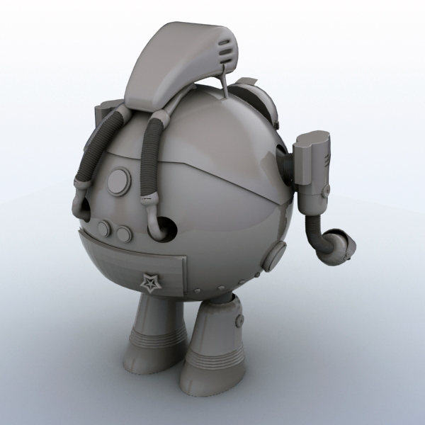 robot 05 3d model 3ds max fbx obj 208921