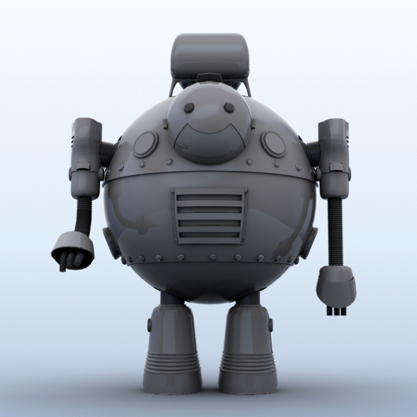 robot 05 3d model 3ds max fbx obj 208922