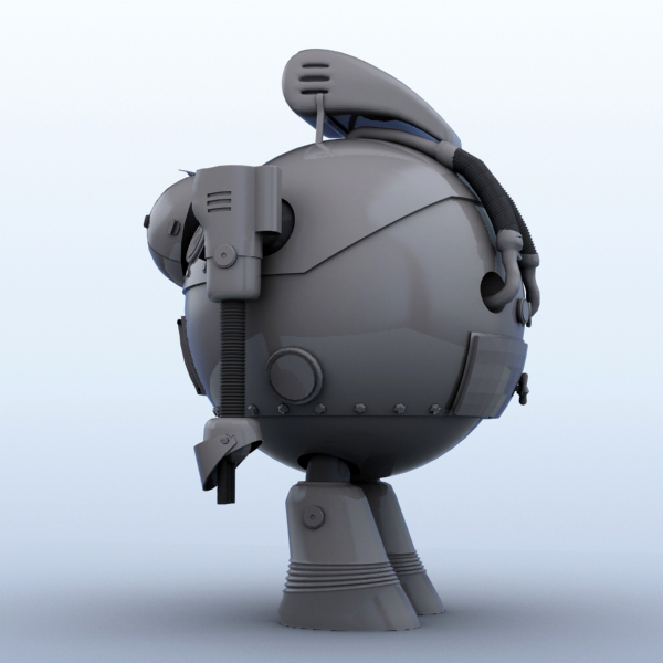 robot 05 3d model 3ds max fbx obj 208923