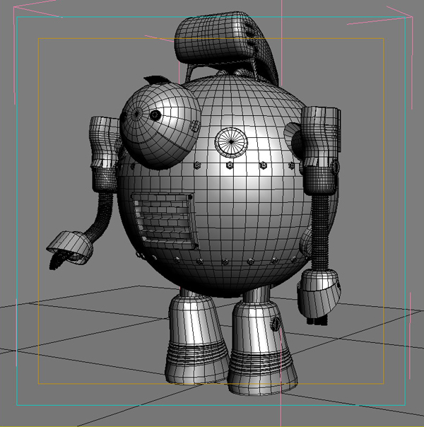 robot 05 3d model 3ds max fbx obj 208925