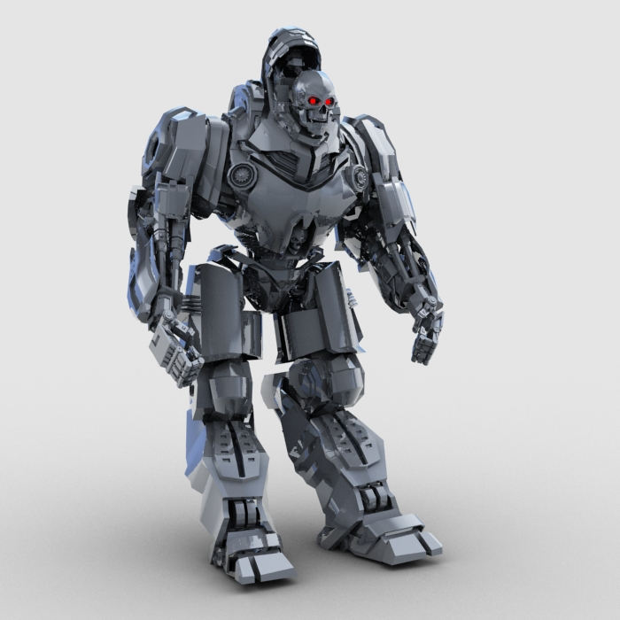 skull robot 3d model 3ds max fbx obj 208927