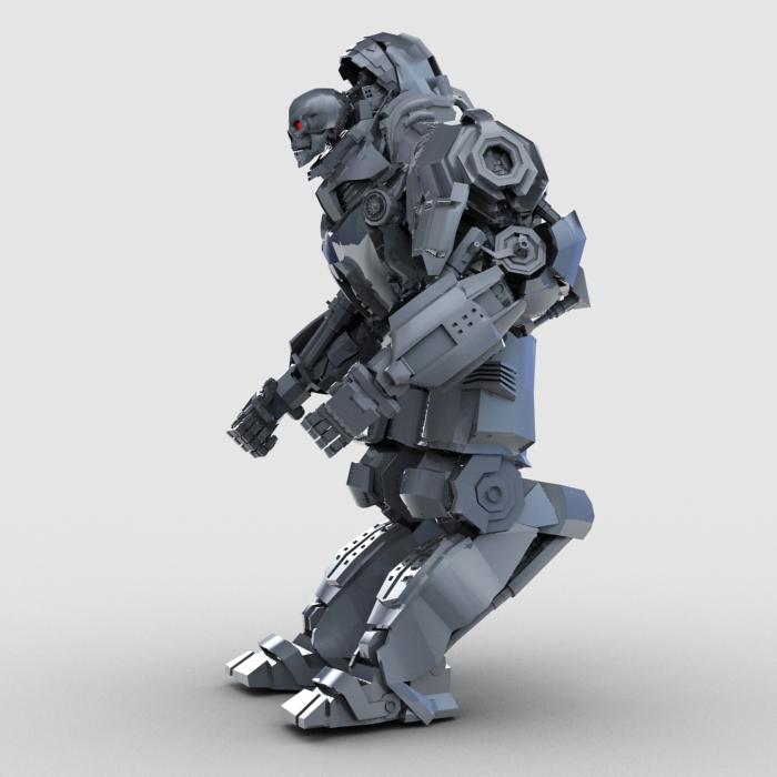 skull robot 3d model 3ds max fbx obj 208929