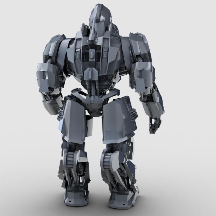 skull robot 3d model 3ds max fbx obj 208930