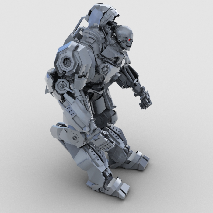 skull robot 3d model 3ds max fbx obj 208931