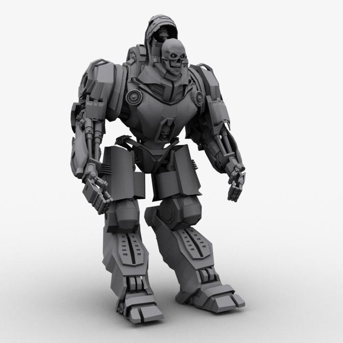 skull robot 3d model 3ds max fbx obj 208932