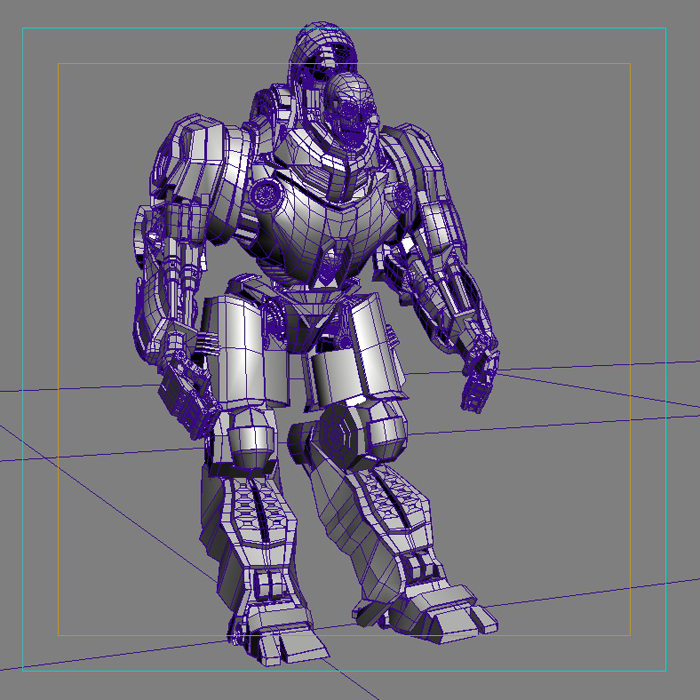 skull robot 3d model 3ds max fbx obj 208933