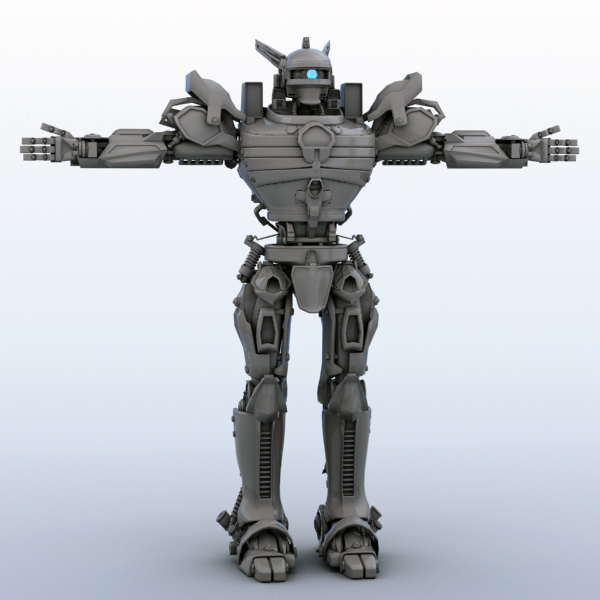 robot 06 3d model 3ds max fbx obj 208935