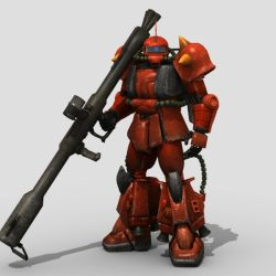 Robot ZaKu 3d model 3ds max fbx obj