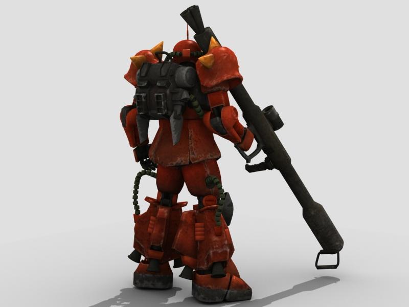 robot zaku 3d model 3ds max fbx obj 208944