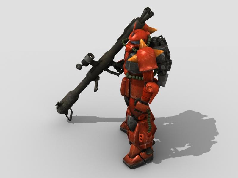 robot zaku 3d model 3ds max fbx obj 208945