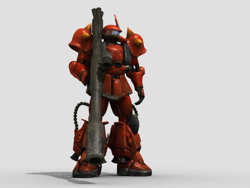 robot zaku 3d model 3ds max fbx obj 208946
