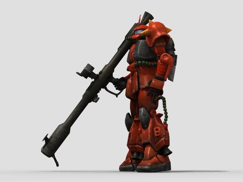 robot zaku 3d model 3ds max fbx obj 208947