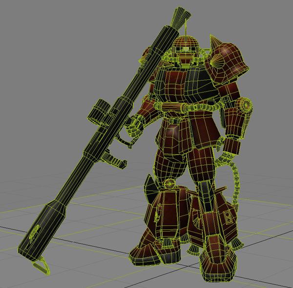 robot zaku 3d model 3ds max fbx obj 208948
