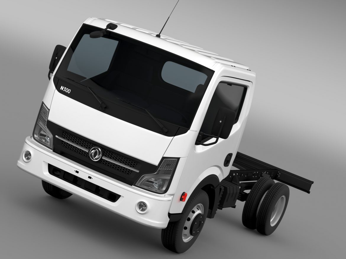 dongfeng n300 captain chassi 2015 3d model 3ds max fbx c4d lwo ma mb hrc xsi obj 208950