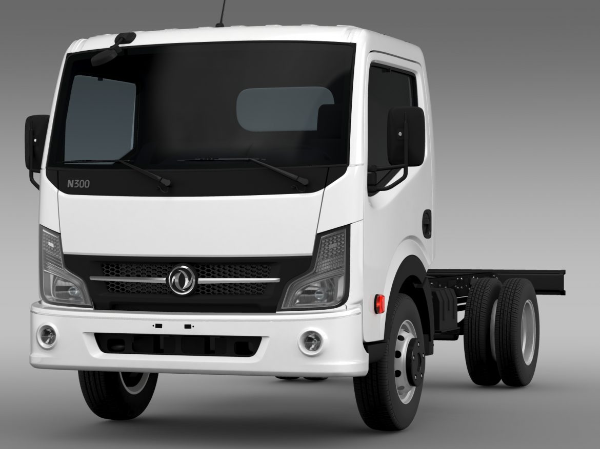 dongfeng n300 captain chassi 2015 3d model 3ds max fbx c4d lwo ma mb hrc xsi obj 208952