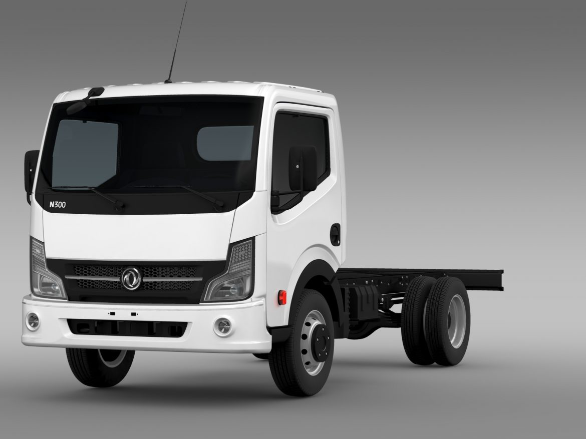 dongfeng n300 captain chassi 2015 3d model 3ds max fbx c4d lwo ma mb hrc xsi obj 208953