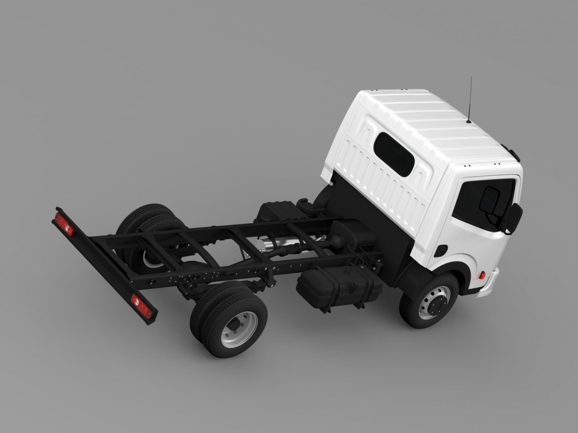 dongfeng n300 captain chassi 2015 3d model 3ds max fbx c4d lwo ma mb hrc xsi obj 208959